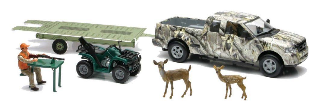 Wild Hunting Playset Camo Pick-Up Truck w/ ATV or Jon Boat ...