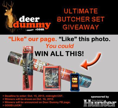 deer dummy butcher set contest