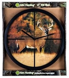 Autumn Whitetail Crosshairs Clock sold at Cabelas