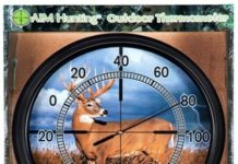Whitetail Metal Outdoor Scope Thermometer