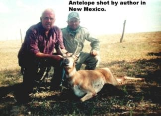 Antelope harvested by author Bob Shell