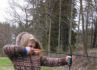 Young Hunter Honing their Archery Skills