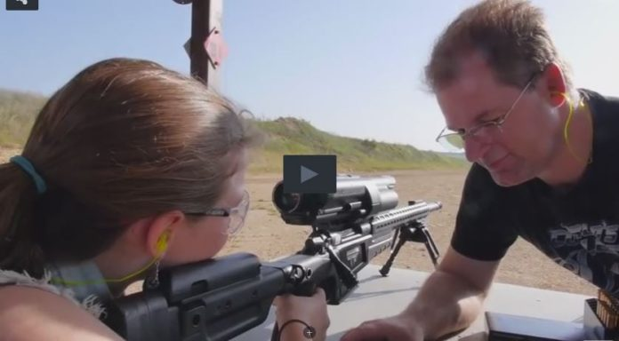 12 Year Old Girl Shooting target at 1000 Yards and Hits It!