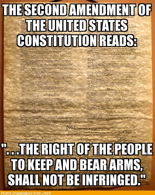 the right of the people to keep and bear Arms, shall not ...