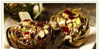 Artichokes Stuffed with Wild Game Pheasant and California Wild Rice