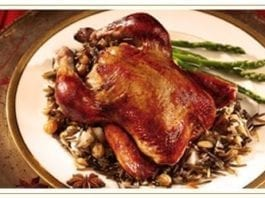 Baked Quail with California Wild Rice Stuffing