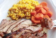 wild game recipe - smoked duck with orange sauce