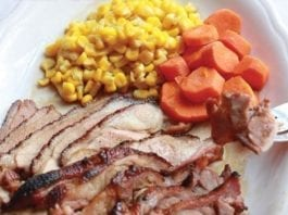 wild game recipe - smoked duck with orange sauce