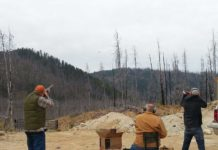 clay pigeon shooting for target practice