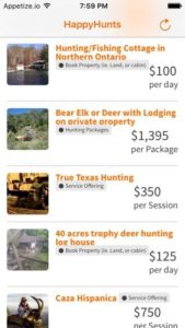 Get all the details and pricing of hunting trips with ease using HappyHunts App