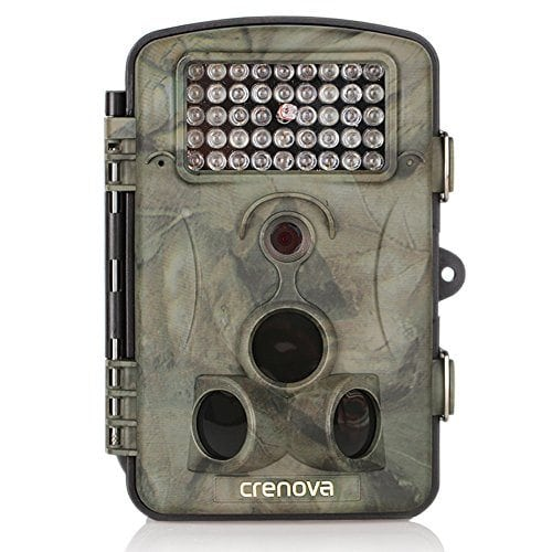 Crenova Game and Trail Hunting Camera 12MP 1080P HD With Time Lapse 65ft 120° Wide Angle Infrared Night Vision 42pcs IR LEDs 2.4″ LCD Screen Scouting Camera Digital Surveillance Camera