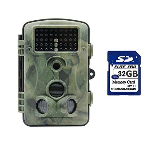 SENWOW 12MP 1080P HD Game and Trail Hunting Camera with 120° Wide Angle Ip54 Waterproof Infrared Night Vision 42pcs IR LEDs Scouting Camera Digital Surveillance Camera, Come with 32GB Memory Card