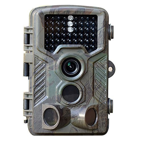 HD 1080P 12MP Game and Trail camera for Deer Hunting , No Glow Infrared Scouting Camera Night Vision max to 82ft with 46pcs LEDs , 2.4″ LCD Screen and Waterproof IP66