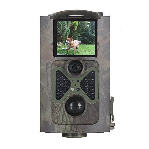 SEREE H01A Infrared Digital Hunting Camera 12MP 44pcs IR LEDs 65ft 120°Wide Angle Infrared Night Vision 1080P FHD Time Lapse Waterproof IP54 2.0″ TFT Screen Remote Control Surveillance Camera (H01A)