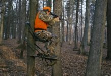 Hunter in deer stand - HuntingMagazine.net