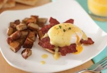 Recipe: Eggs Benedict with Duck Bacon