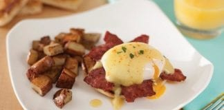 Recipe: Eggs Benedict with Duck Bacon