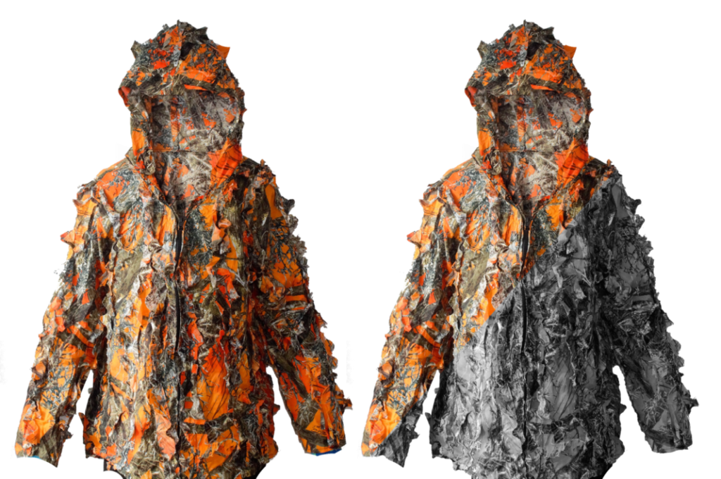 SEE3D is a modern 3D leaf camouflage suit