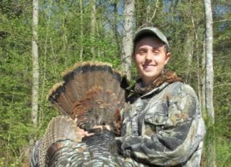 Successful Youth Hunter with Wild Turkey