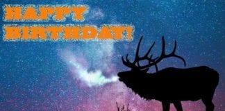 Elk Hunting Meme: Happy Birthday from Hunting Magazine