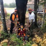 Photo from our October 4th. 2018 Neil's Harbour Cape Breton Moose Hunting Trip. Pictured is Kris Kirk, Ryan Garrison, Brandon Ryan and Baby Jaxson. The Moose was shot by Kris Kirk with a Browning 300 Magnum.
