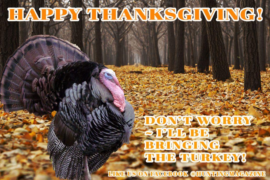 Happy Thanksgiving - I'll Bring the Turkey   Hunting Magazine