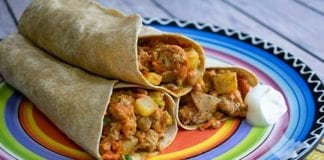 Recipe: Wild Turkey-Potato Dinner Wrap