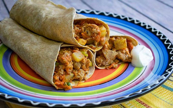 Recipe: Wild Turkey-Potato Dinner Wrap