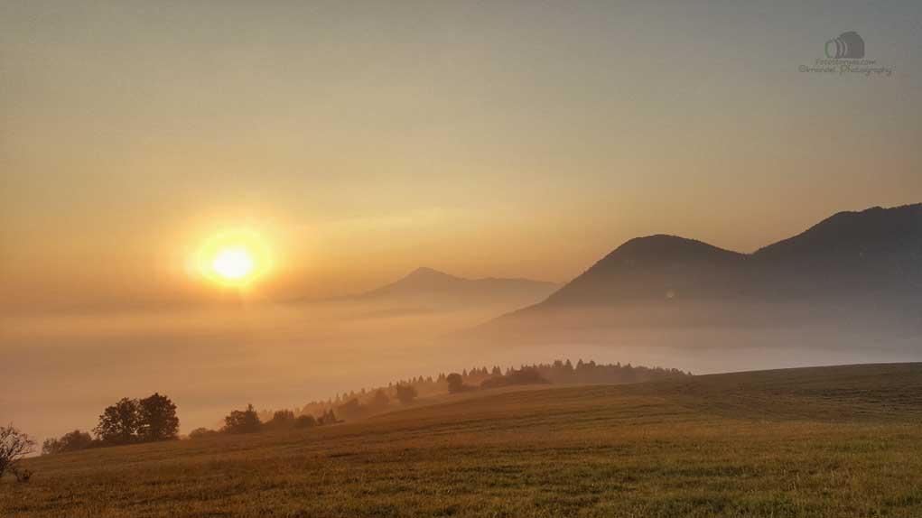 Slovakia Landscape at Sunrise