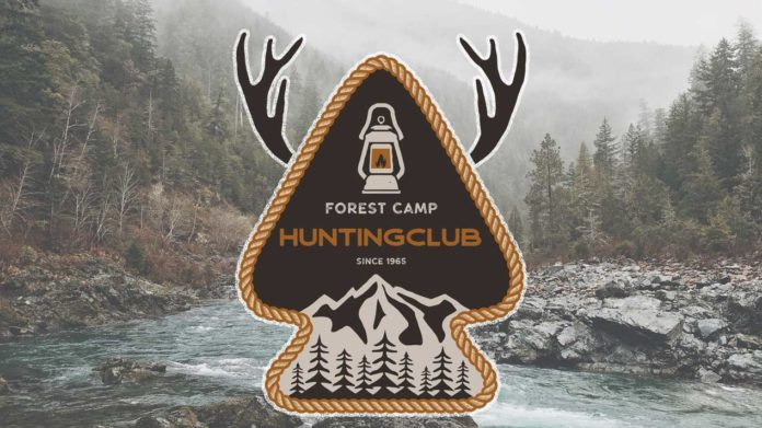 Forest Camp Hunting Club Embroidered Patch | Hunting Magazine
