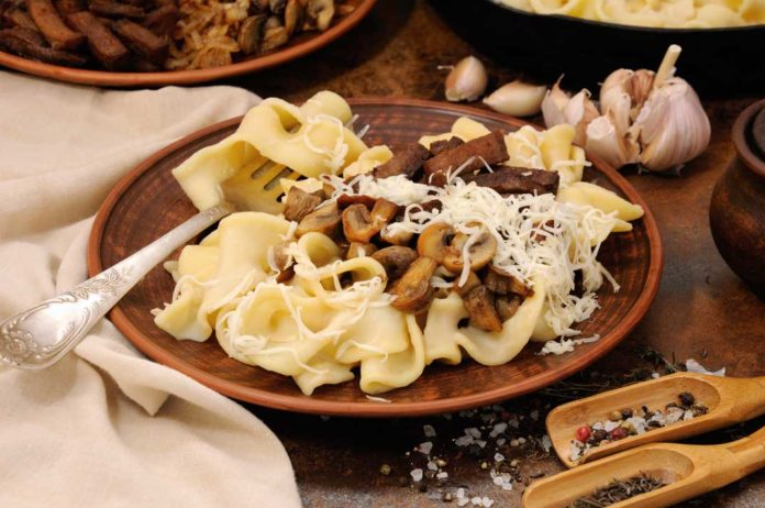 Creamy Venison Stroganoff Served Over Wide Egg Noodles | Hunting Magazine