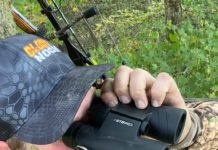 Team member Lance Stodden of Breaking Edge Outdoors is watching the field for deer entering | Hunting Magazine